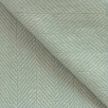 Load image into Gallery viewer, Fishbone Wool Blanket in Duck Egg Blue - James & May