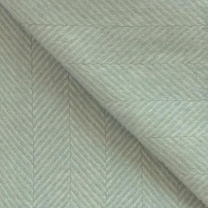 Fishbone Wool Blanket in Duck Egg Blue - James & May