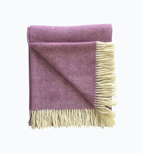 Herringbone Wool Blanket in Heather - James & May
