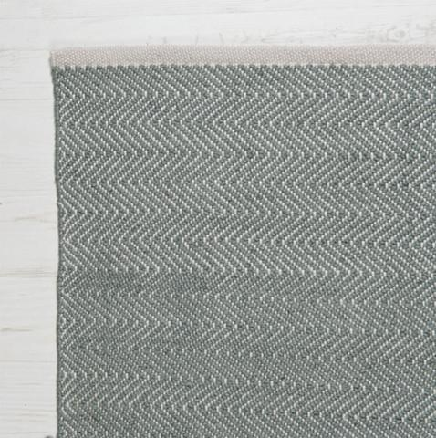 Herringbone Rug in Green Grey - James & May