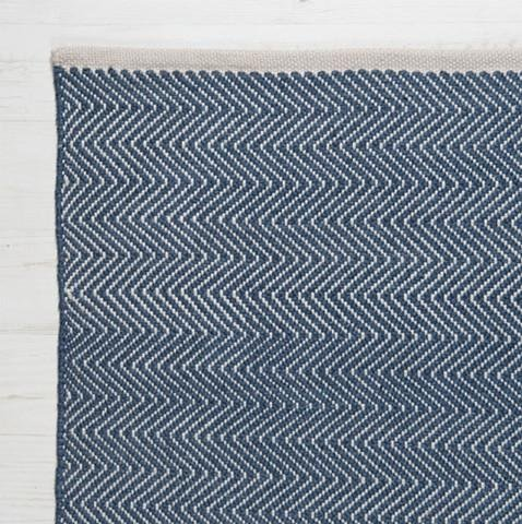 Herringbone Rug in Navy - James & May