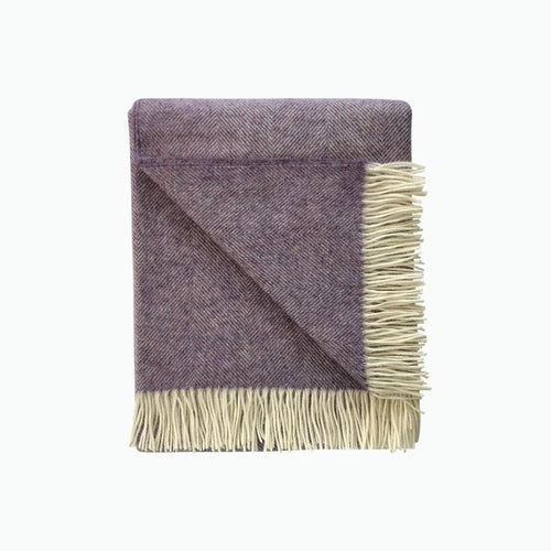 Herringbone Wool Blanket in Fig - James & May