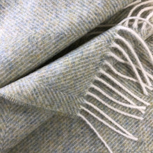 Load image into Gallery viewer, Herringbone Wool Blanket in Sage Green - James & May