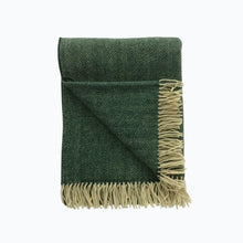Load image into Gallery viewer, Herringbone Wool Blanket in Spruce - James & May
