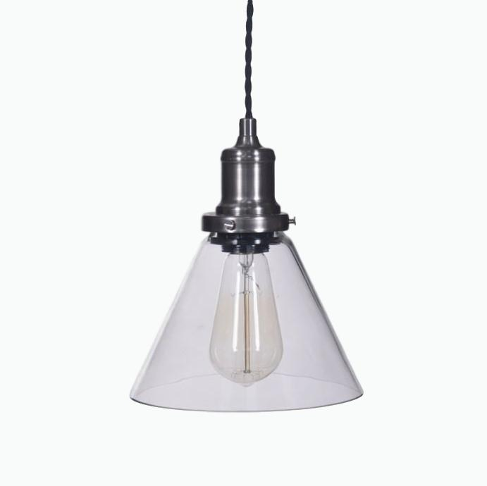 Hoxton Cone Glass Pendant Light - James & May