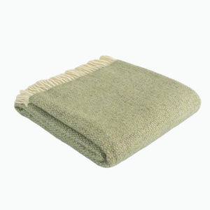 Illusion Wool Blanket in Green and Grey - James & May