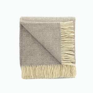 Illusion Wool Blanket in Mid Grey - James & May