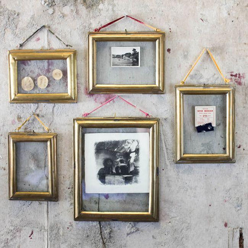 Kariba Antique Brass Photo Frames - James & May
