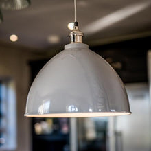 Load image into Gallery viewer, Large Domed Pendant Light in Grey - James & May