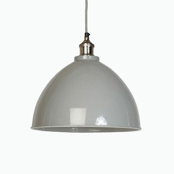 Large Domed Pendant Light in Grey - James & May