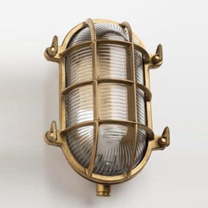 Large Oval Bulkhead Light in Brass - James & May