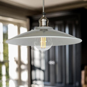 Large Tapered Pendant Light in Grey - James & May