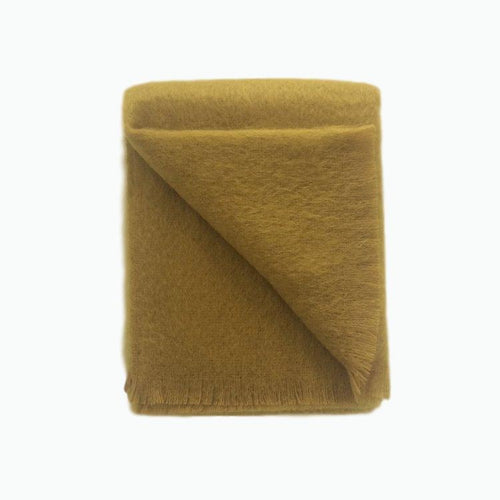 Mohair Throw in Burnt Gold - James & May