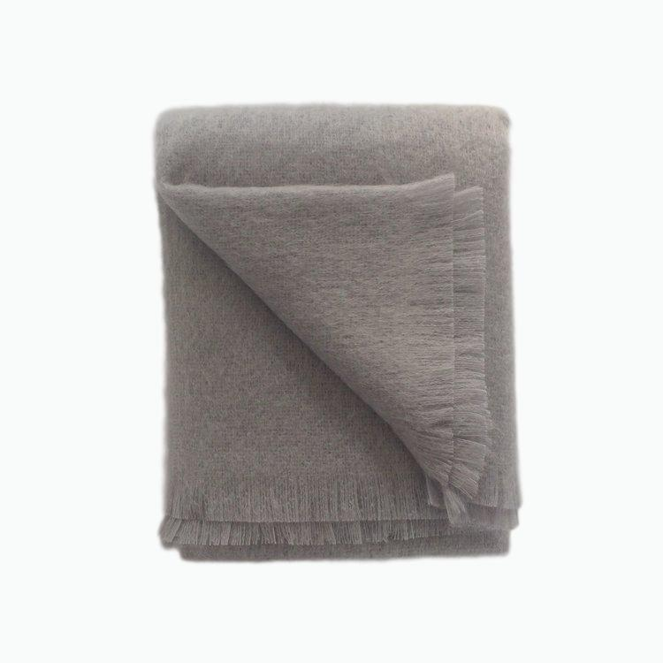 Mohair Throw in Dusk - James & May