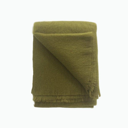 Mohair Throw in Hazel - James & May
