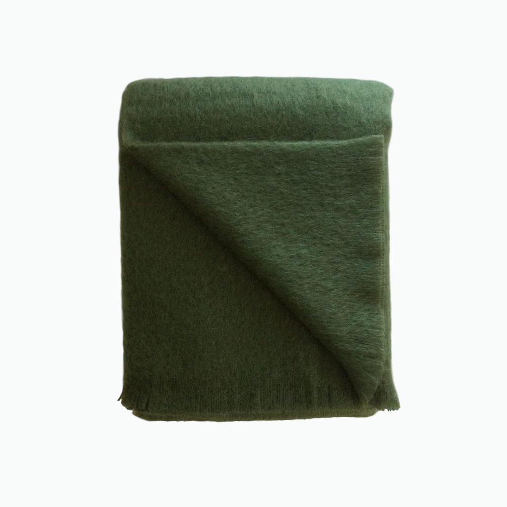 Mohair Throw in Moss - James & May