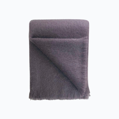 Mohair Throw in Plum - James & May