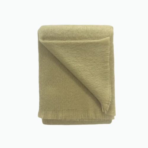 Mohair Throw in Sage - James & May