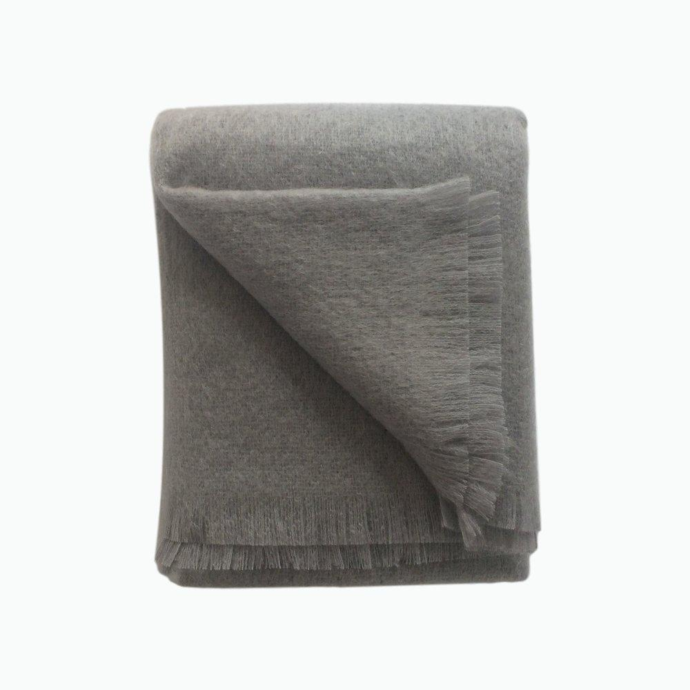 Mohair Throw in Slate - James & May