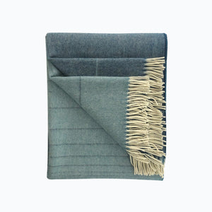 Ombre Alpaca Blanket in Deep Blue - James & May
