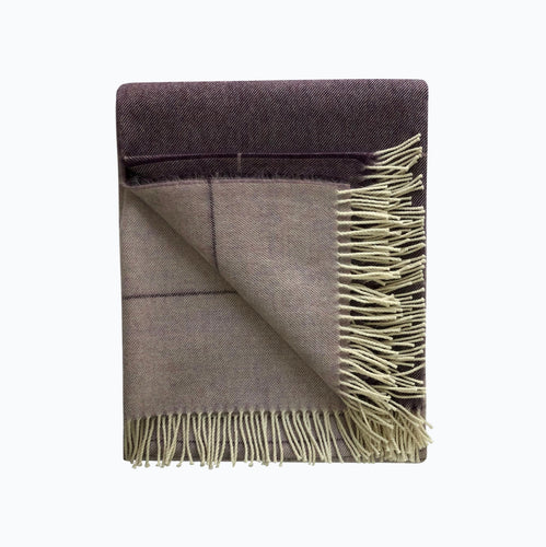 Ombre Alpaca Blanket in Mauve - James & May