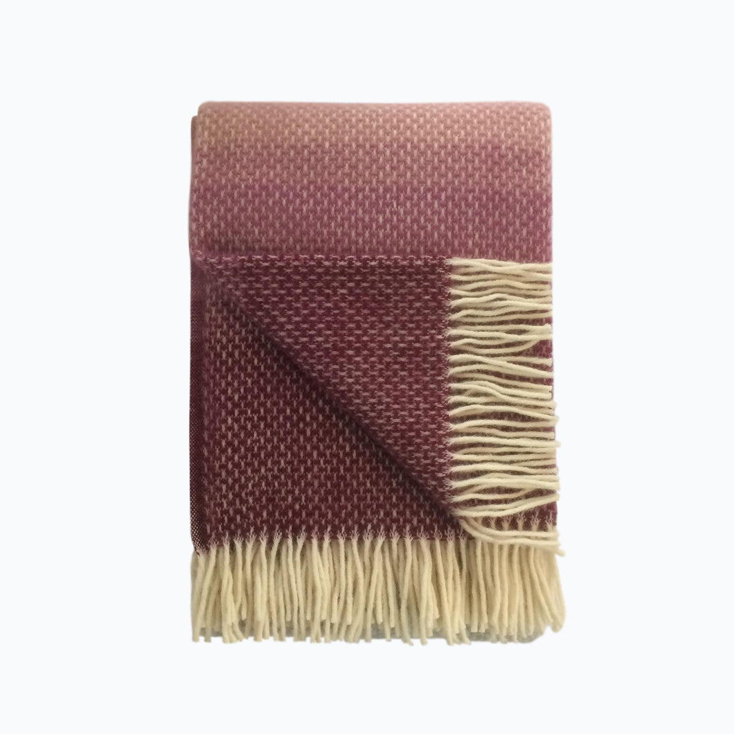 Ombre Wool Blanket in Heather - James & May
