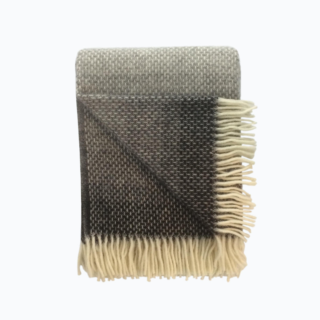Ombre Wool Blanket in Pebble - James & May