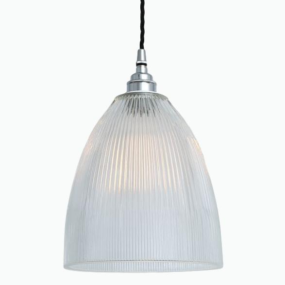 Prismatic Glass Pendant Light in Nickel - James & May