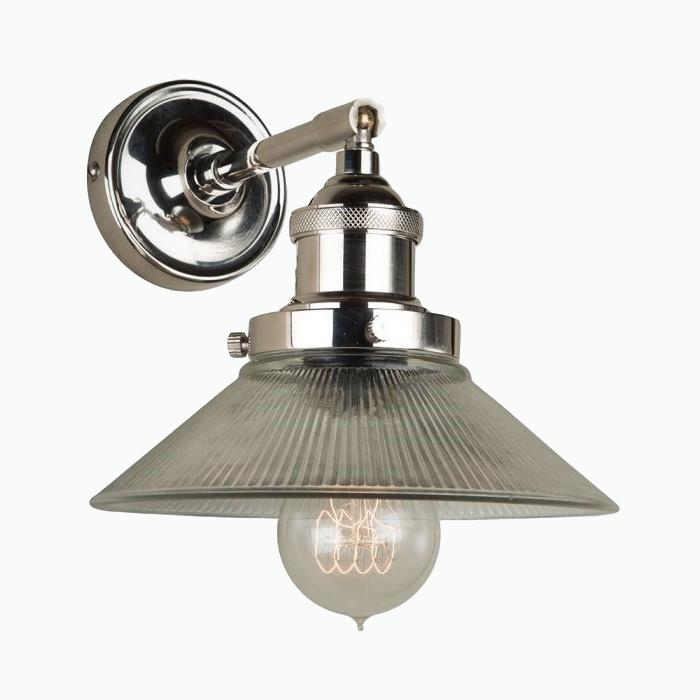 Prismatic Glass Wall Light in Nickel - James & May