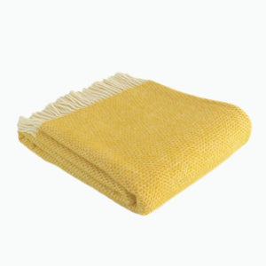 Small Beehive Wool Blanket in Yellow - James & May