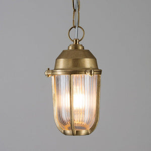 Small Boatyard Pendant in Brass - James & May