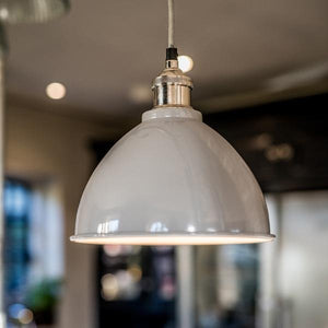 Small Domed Pendant Light in Grey - James & May