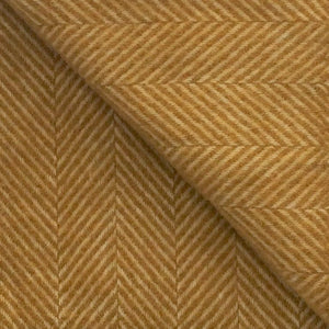 Small Fishbone Wool Blanket in Mustard - James & May