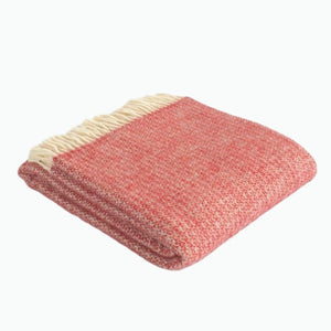 Small Illusion Wool Blanket in Crimson and Silver - James & May