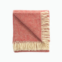 Load image into Gallery viewer, Small Illusion Wool Blanket in Crimson and Silver - James & May
