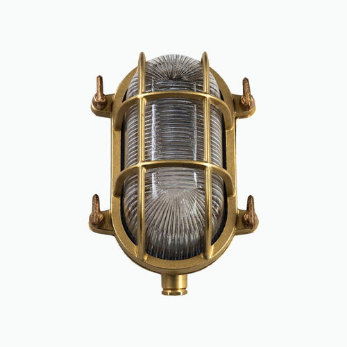 Small Oval Bulkhead Light in Brass - James & May