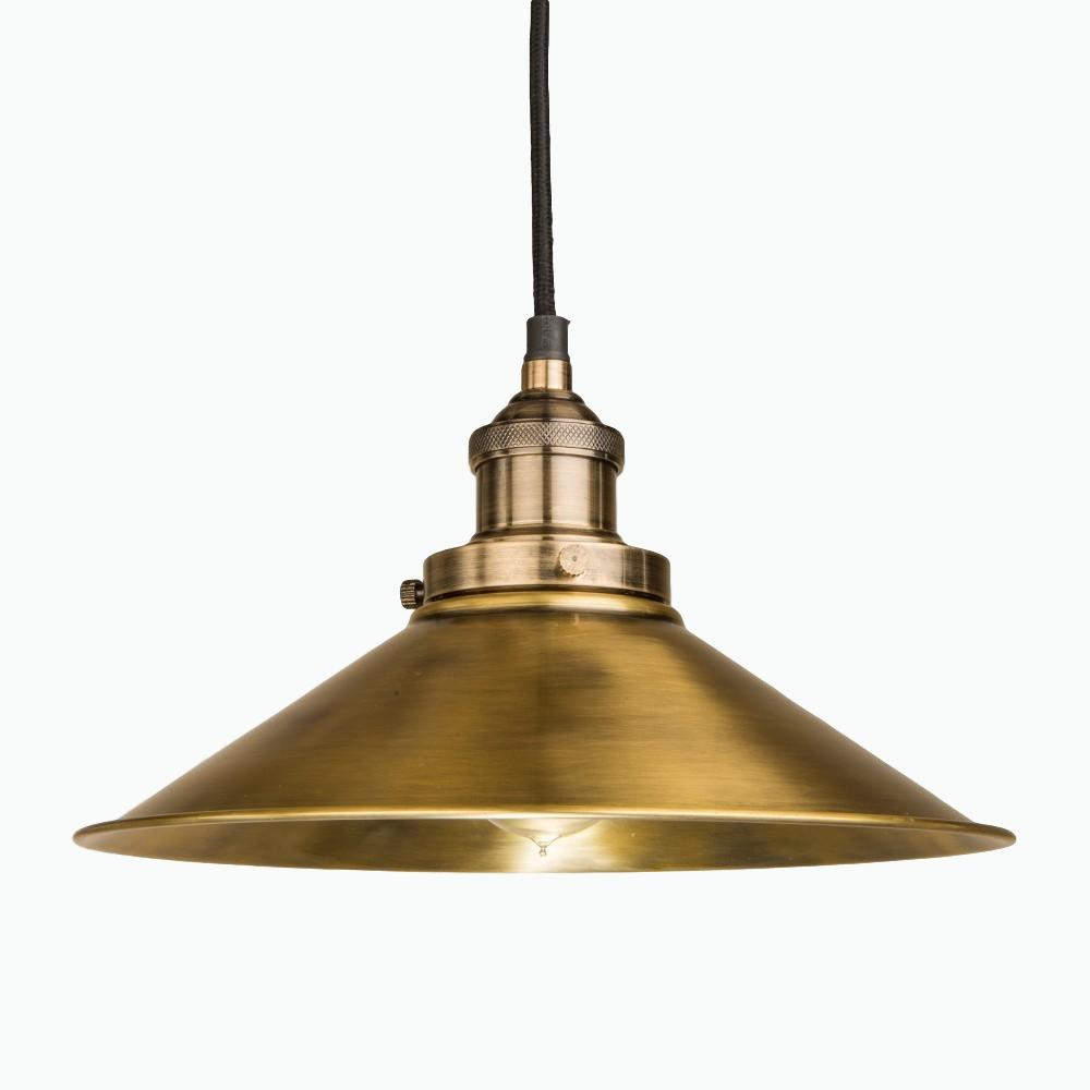 Triangular Pendant Light in Antique Brass - James & May
