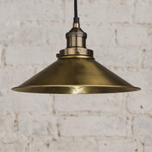 Load image into Gallery viewer, Triangular Pendant Light in Antique Brass - James & May