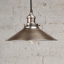 Load image into Gallery viewer, Triangular Pendant Light in Antique Silver - James & May