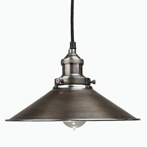 Triangular Pendant Light in Antique Silver - James & May