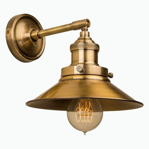 Triangular Wall Light in Antique Brass - James & May