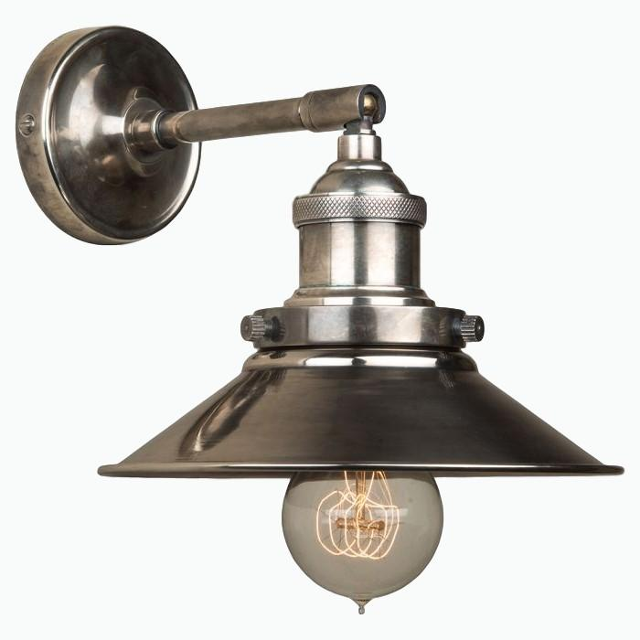 Triangular Wall Light in Antique Silver - James & May