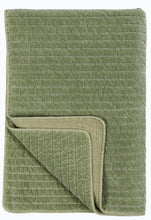 Load image into Gallery viewer, Velvet Quilt in Pigeon Green - James & May