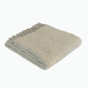 Wafer Wool Blanket in Silver - James & May