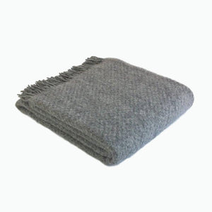Wafer Wool Blanket in Slate - James & May
