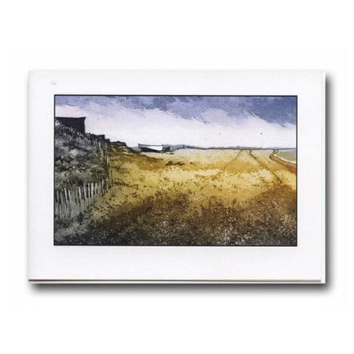 Walking on Dunwich Beach Greeting Card - James & May