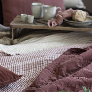 Washed Cotton Quilt in Malva - James & May