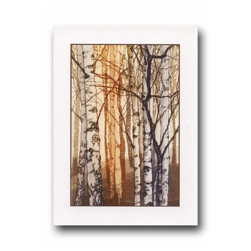 Young Birches Greeting Card - James & May