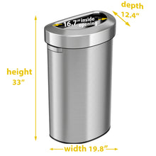 Load image into Gallery viewer, 23 Gallon Stainless Steel Semi-Round Open Top