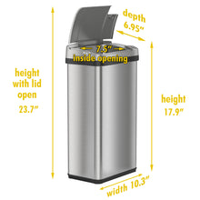 Load image into Gallery viewer, 4 Gallon Stainless Steel Rectangular Sensor